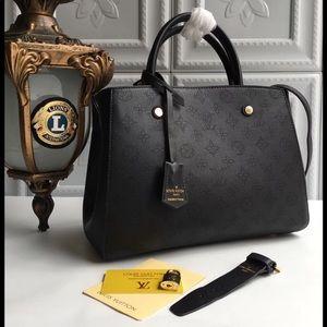 Louis Vuitton Montaigne black bag